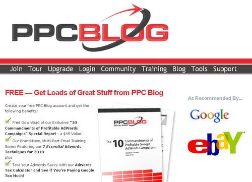 PPCBlog.com Homepage