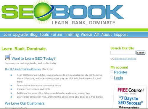 SEOBook.com Homepage