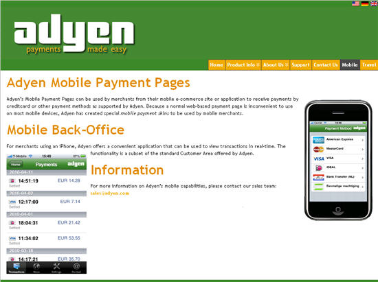 Adyen Client Management Foundation Kontakt
