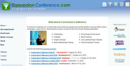 Tim Ash Co Founder and Chair of Conversion Conference